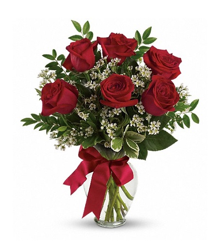 Thoughts of You Bouquet with Red Roses Deluxe