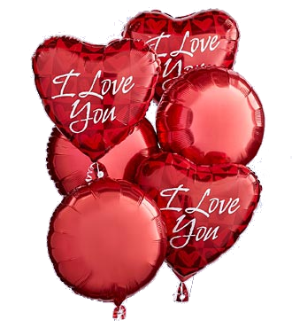 I love you Baloons